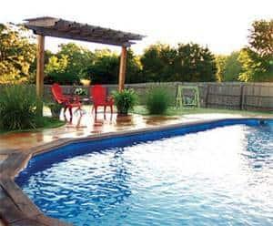 reccessed pool