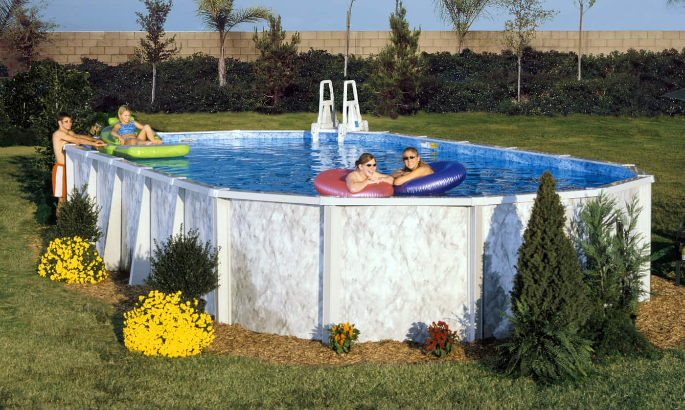 Silver Lake Steel Swimming Pool by Doughboy | Sun Pools
